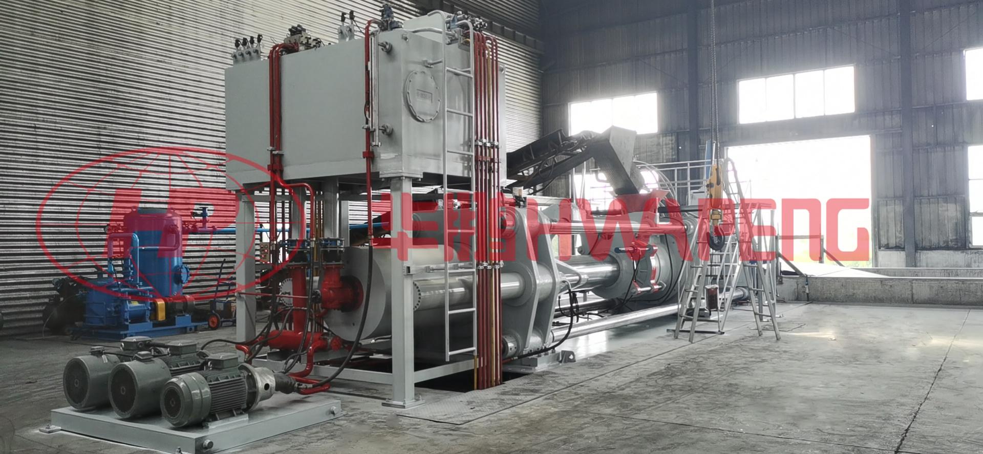 пресса для изготовления угольных электродов серии HP-CEP