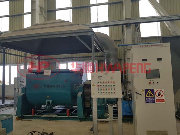 Гидравлическая электронагреваемая месильная машина с вращающимся цилиндром серии HWAPENG для производства пасты используется для ремонта электролизеров на крупном алюминиевом заводе Ближнего Востока